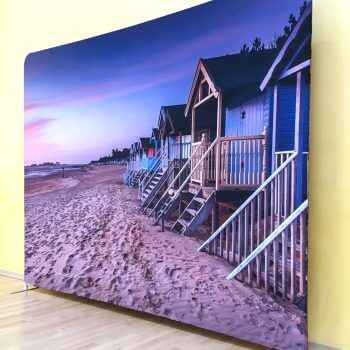 Stunning exhibition backdrop - Wells beachhuts