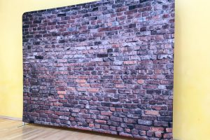 Stunning exhibition backdrop brick