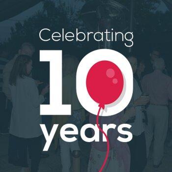 celebrating 10 years of nu image logo