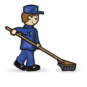 Anglia Business Cleaning - sweeper logo